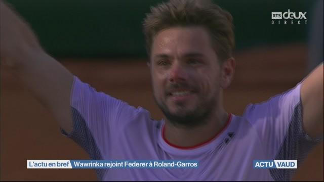 Wawrinka rejoint Federer à Roland-Garros