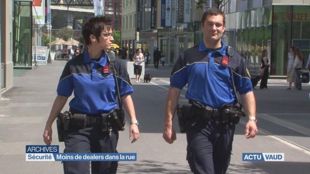 Moins de dealers dans les rues de Lausanne