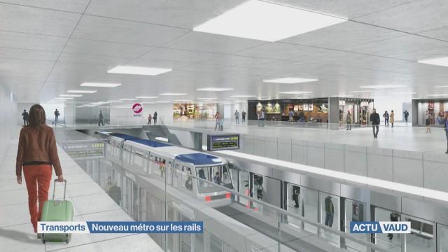 Nouveau métro sur les rails