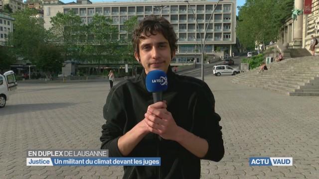 Un militant pour le climat devant les juges