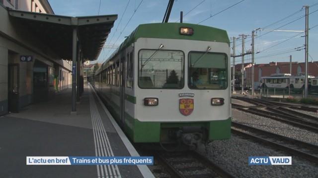 Les transports publics vaudois renforcent leur offre