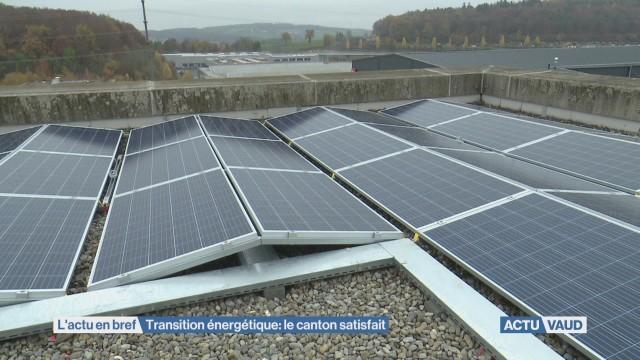 Transition énergétique: le canton de Vaud satisfait