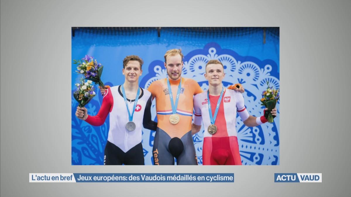 Médailles vaudoises aux Jeux européens
