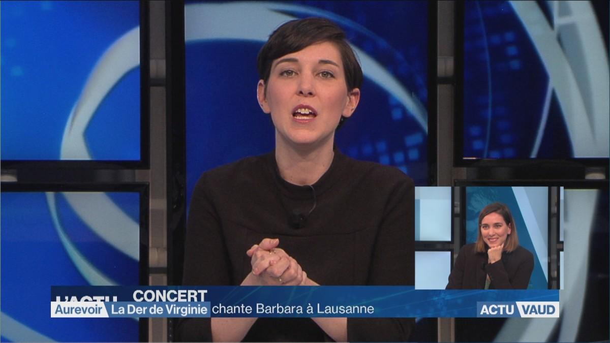 Virginie Gerhard présentait son dernier journal sur La Télé