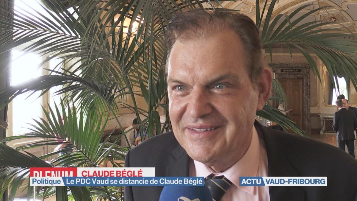 Le PDC Vaud se distancie de Claude Béglé