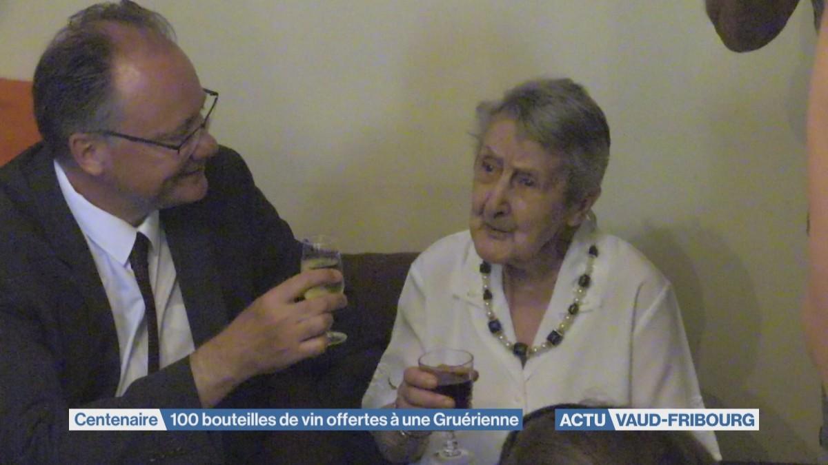 100 bouteilles de vin offertes à une Gruérienne