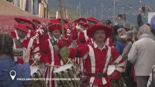 Proclamation Fête des Vignerons de Vevey