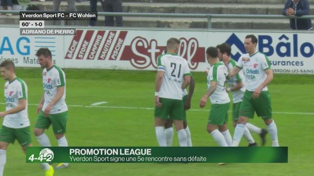 5e match sans défaite pour Yverdon Sport