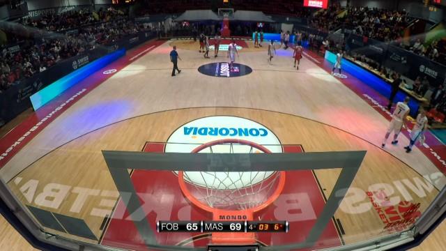 SBL Cup, demi-finale, Fribourg-Massagno, deuxième mi-temps