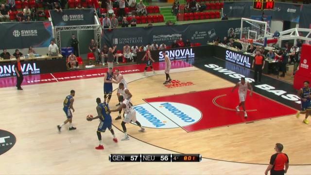 SBL Cup, demi-finale, Genève-Neuchâtel, deuxième mi-temps