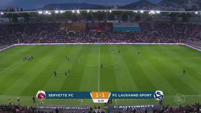 Servette-Lausanne, la mi-match