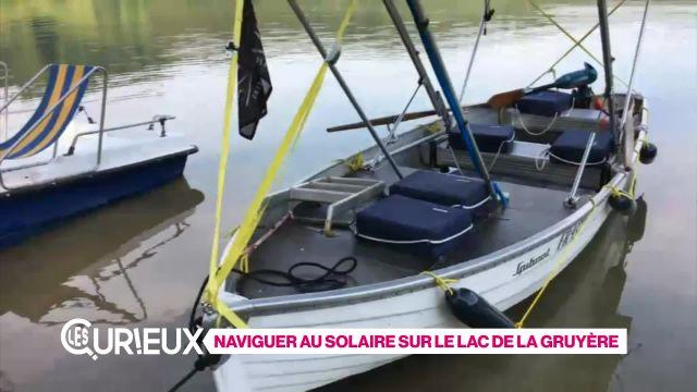 Naviguer au solaire sur le Lac de la Gruyère