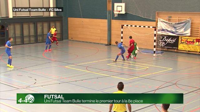 Uni Futsal Team Bulle termine le 1er tour à la 8e place