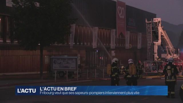Fribourg veut revoir son organisation des sapeurs-pompiers