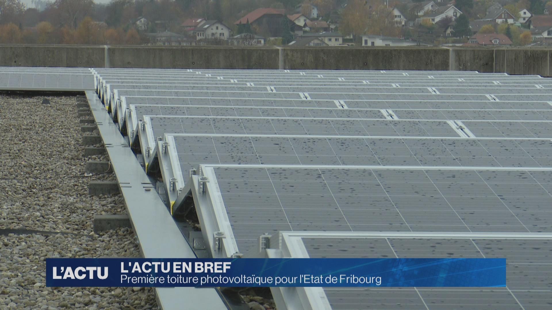 Première toiture photovoltaïque pour l'Etat de Fribourg