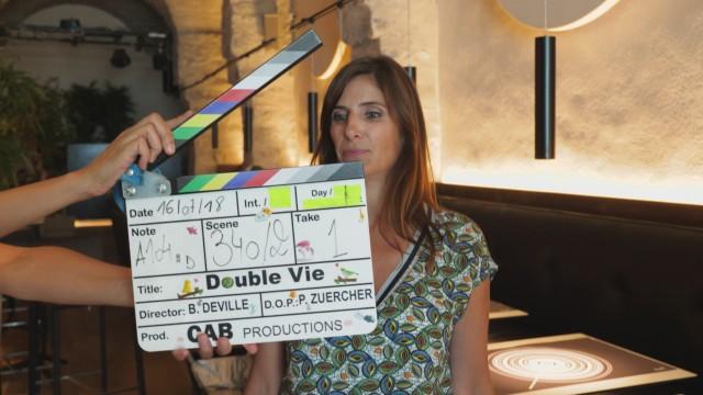 Sur le tournage d'une série TV