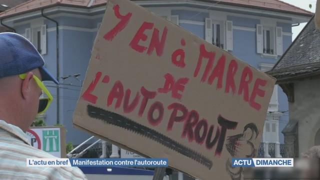 Renens: manifestation contre la bretelle autoroutière