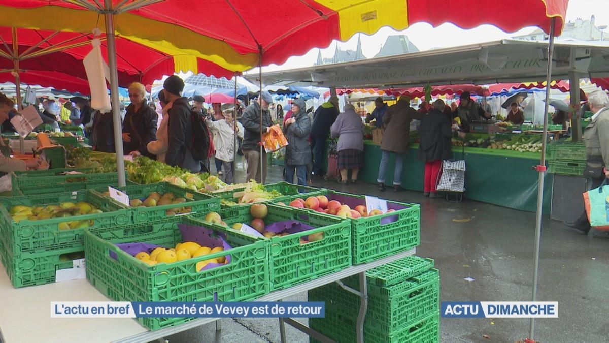 Le marché de Vevey est de retour