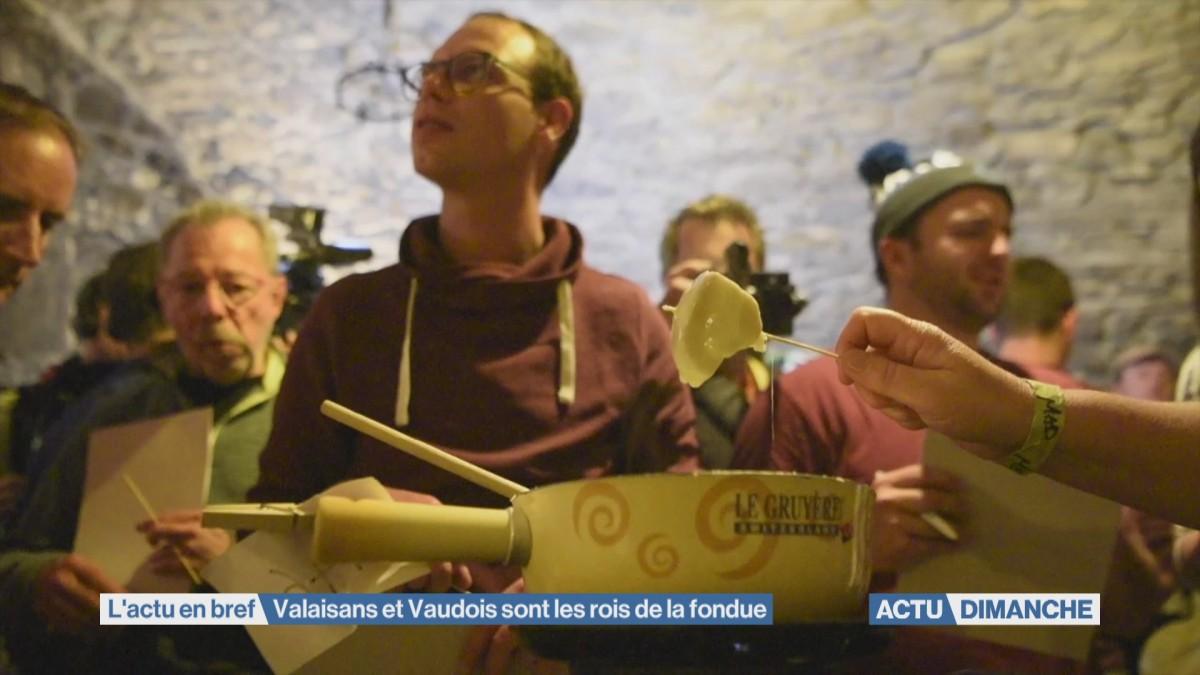 Valaisans et Vaudois rois de la fondue
