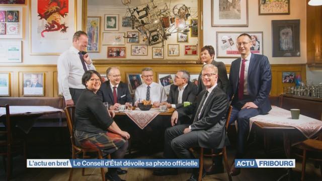 Le Conseil d'État fribourgeois dévoile sa photo officielle