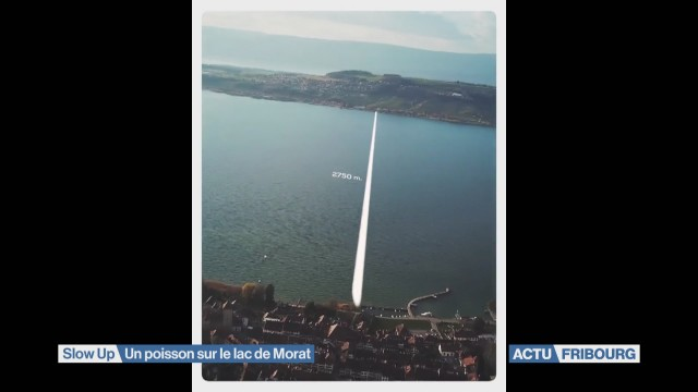 Le pont flottant du Slow-Up était un poisson d'avril