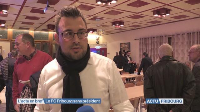 Le FC Fribourg sans président