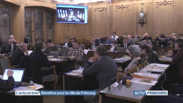 Bénéfice pour la ville de Fribourg
