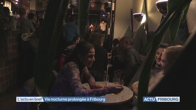 Vie nocturne prolongée à Fribourg