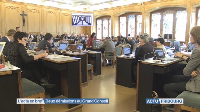 Deux démissions au Grand Conseil