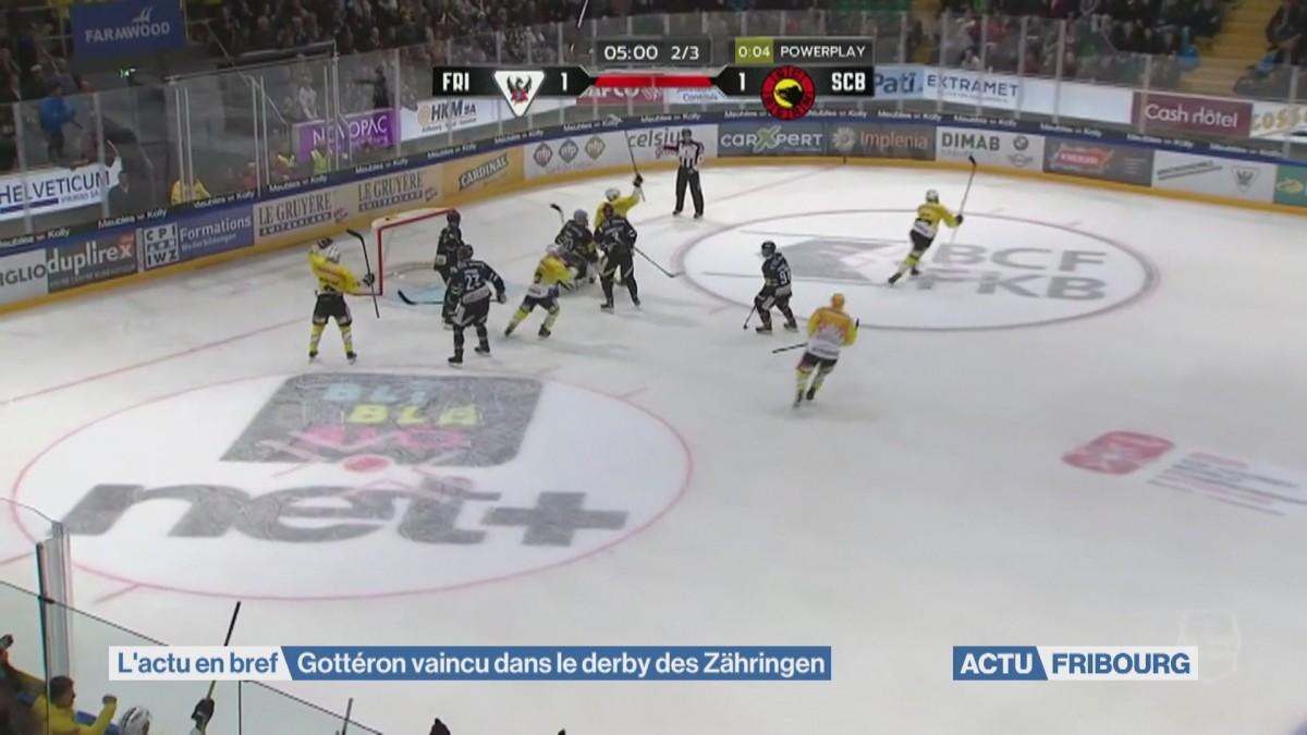 Gottéron vaincu dans le derby des Zähringen