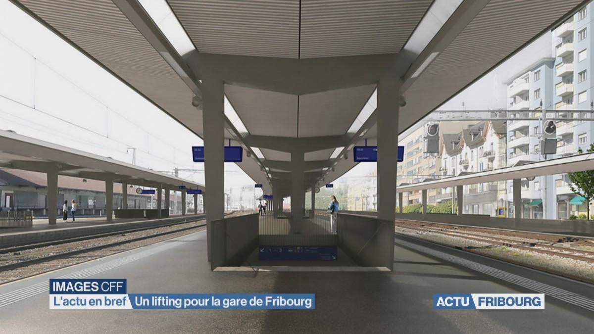 Un lifting pour la gare de Fribourg