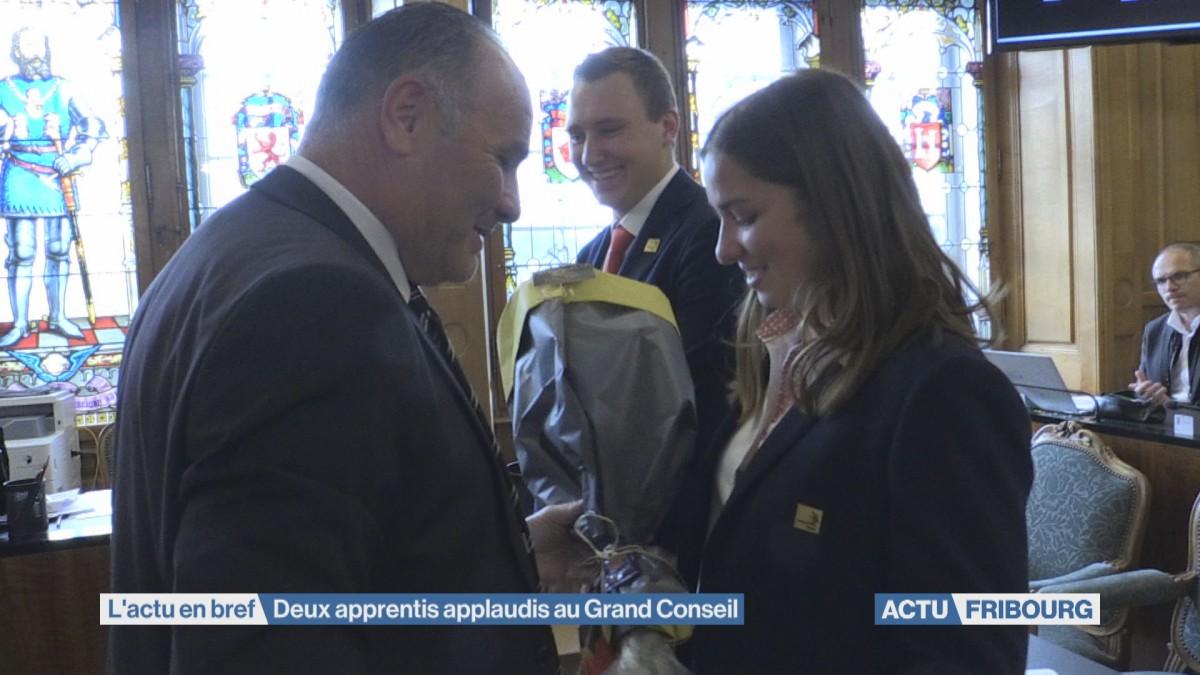 Deux apprentis applaudis au Grand Conseil