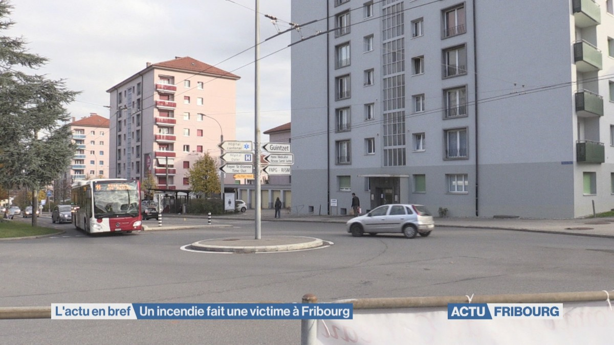 Un incendie fait une victime à Fribourg