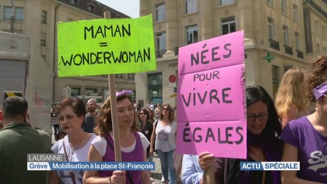 Emission spéciale en direct de la grève des femmes