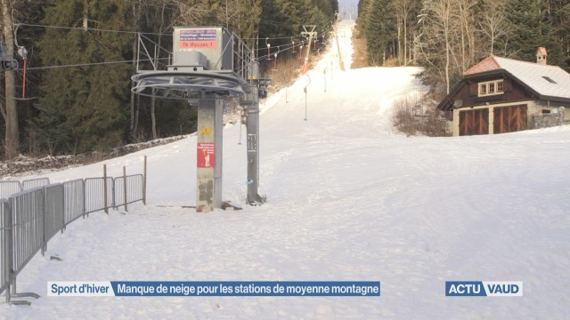 Manque de neige pour les stations de moyenne montagne