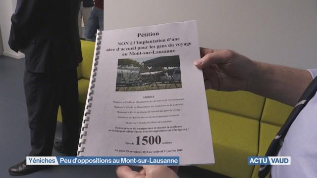 Yéniches: peu d'oppositions au Mont-sur-Lausanne
