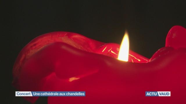 La Cathédrale de Lausanne illuminée de mille feux