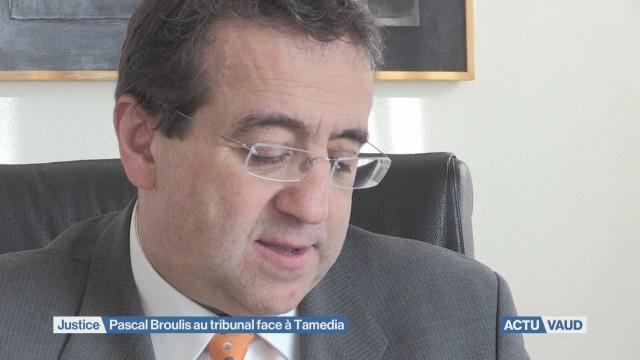 Pascal Broulis au tribunal face à Tamedia