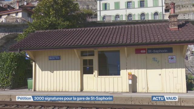 3'000 signatures pour la gare de St-Saphorin