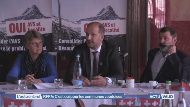 Les communes vaudoises soutiennent la RFFA