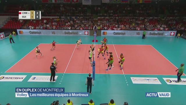 Coup d'envoi pour les Volley Masters de Montreux