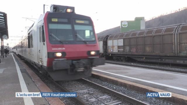 Trains Palézieux-Moudon en pause