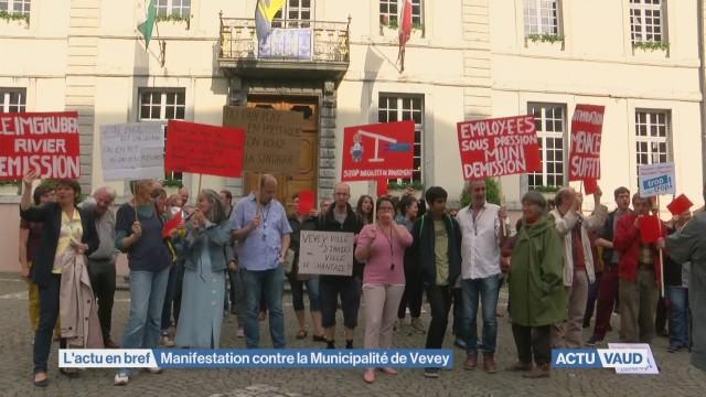 Manifestation contre la Municipalité de Vevey