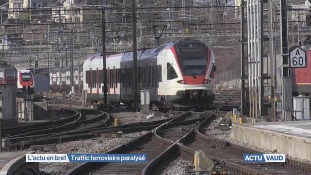 Ligne CFF Lausanne-Palézieux coupée