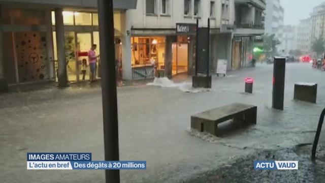Orage: des dégâts à 20 millions