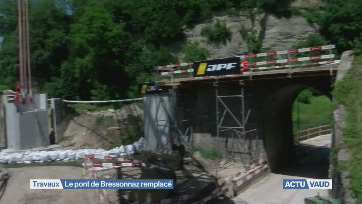 Le pont de Bressonnaz est remplacé
