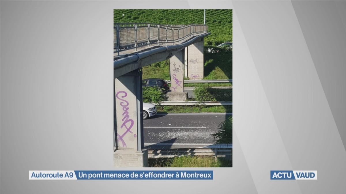 L'autoroute Vevey et Villeneuve est fermée