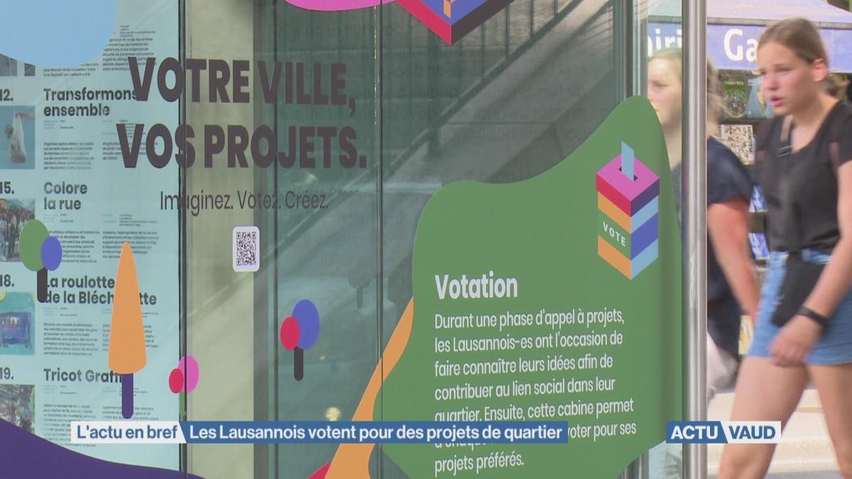 Les Lausannois votent pour des projets de quartier