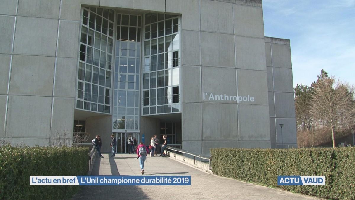 L'Université de Lausanne, meilleure élève des unis durables