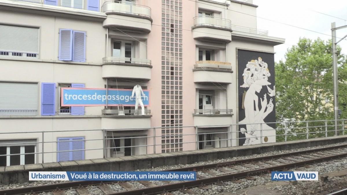 Gare de Lausanne: voué à la destruction, un immeuble revit